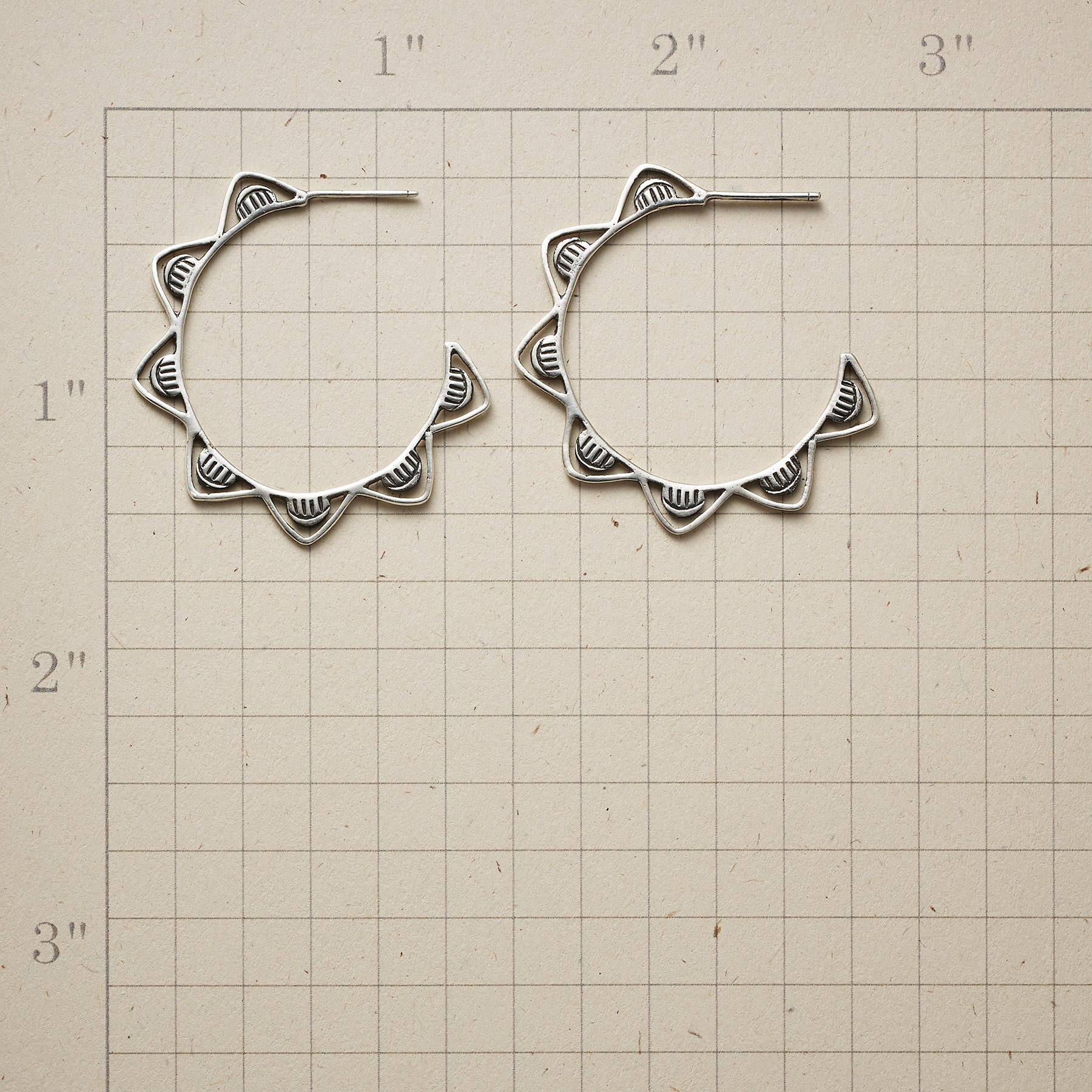 WHITE CAPS HOOP EARRINGS: View 2