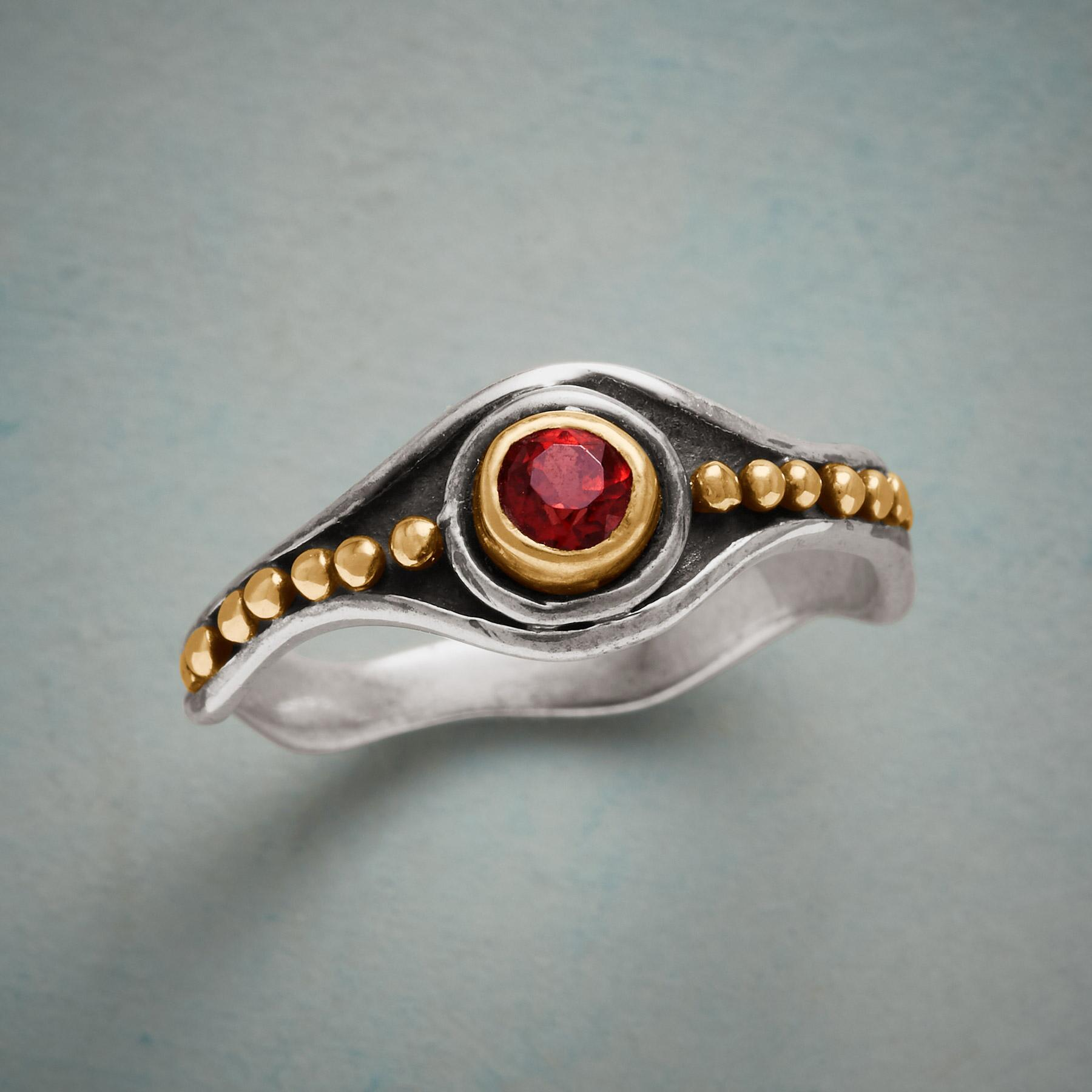 MONARCH GARNET RING: View 1