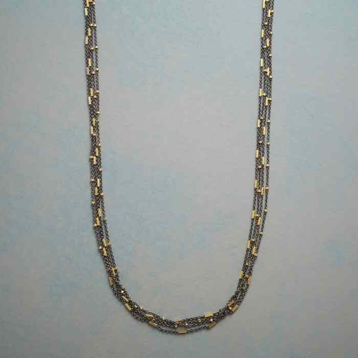 GLITTERING CASCADE NECKLACE