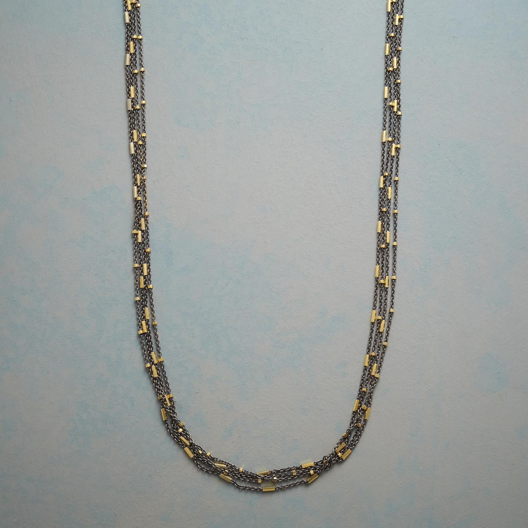 GLITTERING CASCADE NECKLACE: View 1
