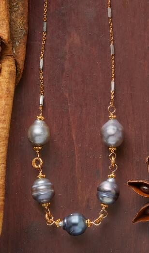 OCEAN REFLECTIONS PEARL NECKLACE