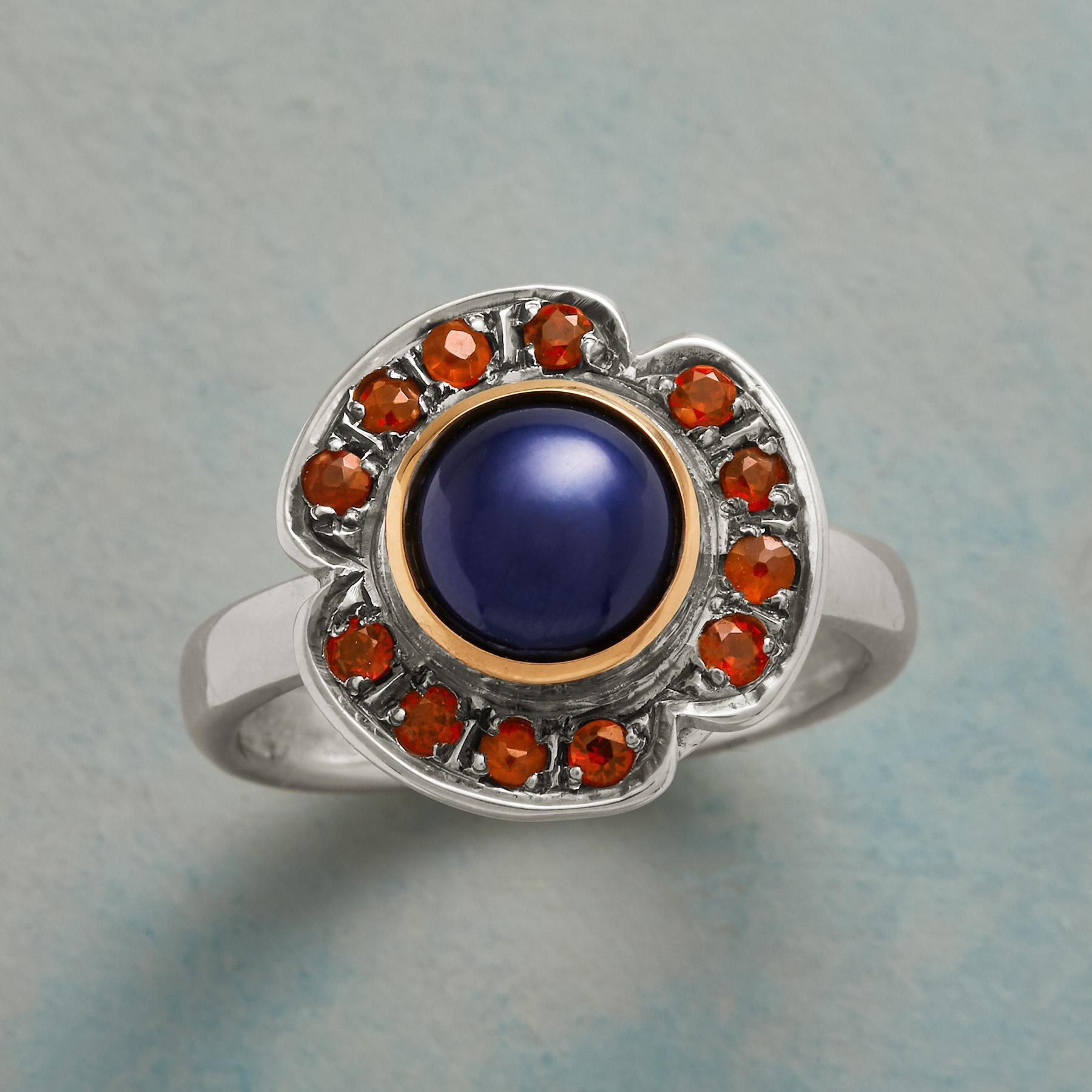 AZURE PEARL COCKTAIL RING: View 1