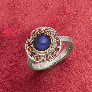 AZURE PEARL COCKTAIL RING