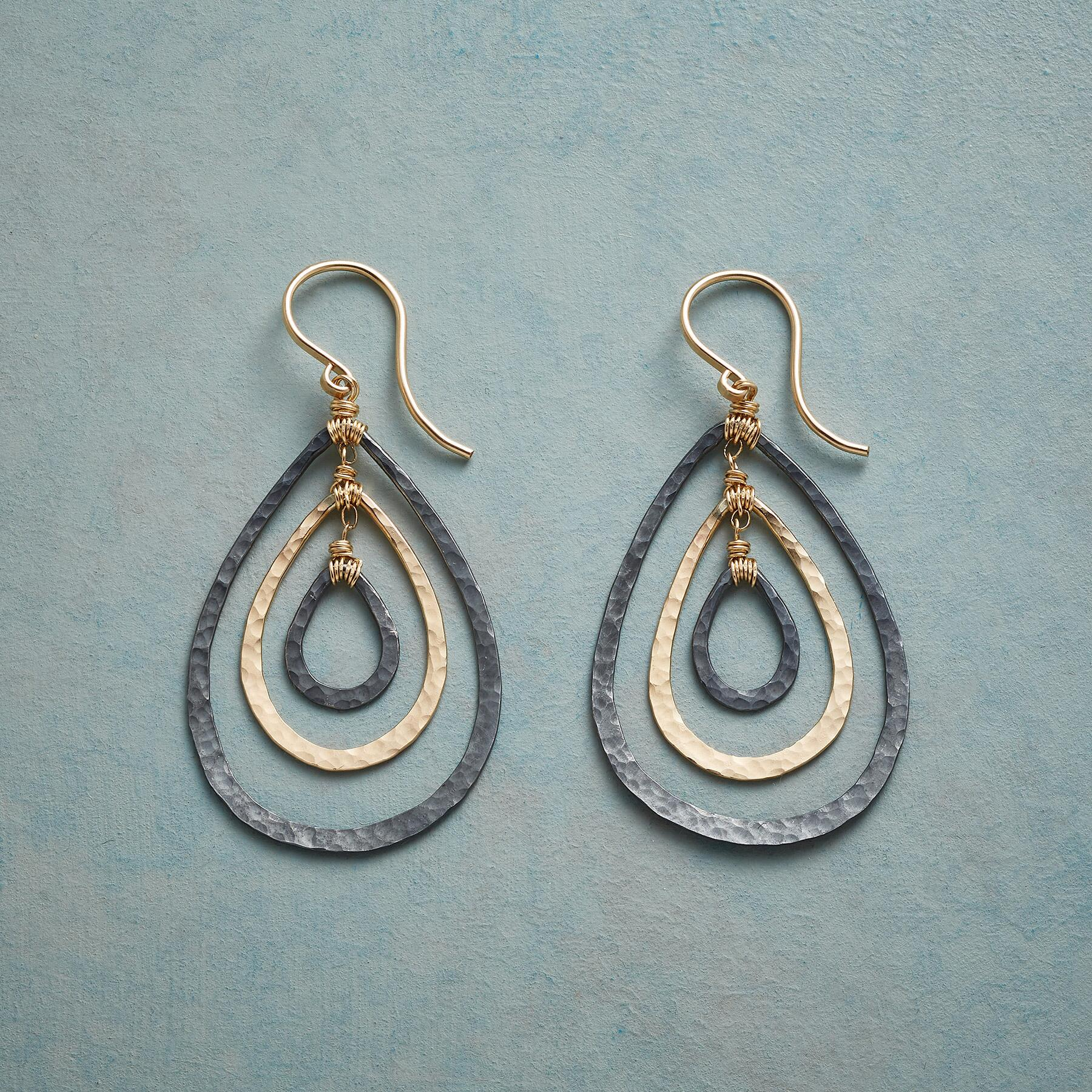 TEARDROP TRIO EARRINGS: View 1
