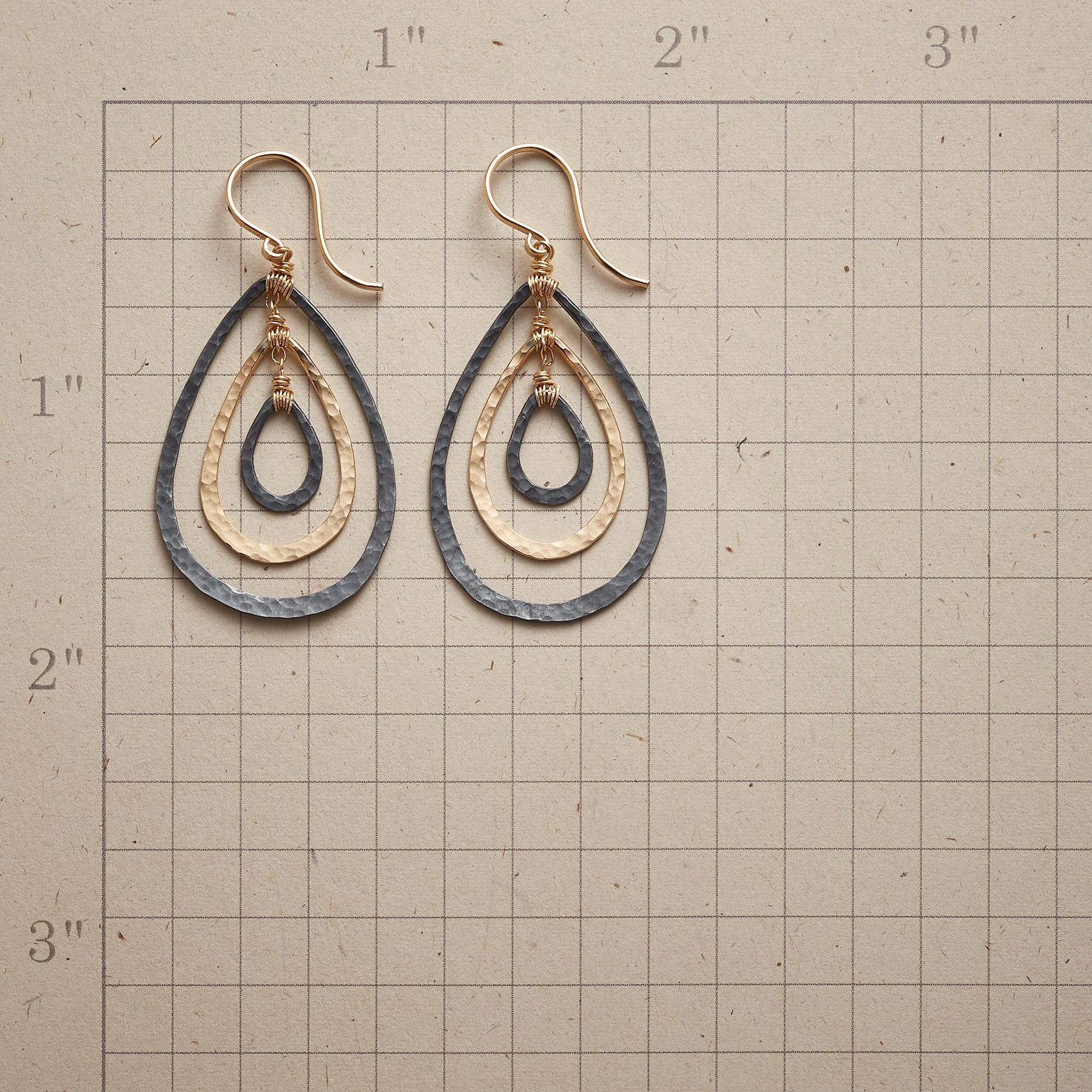TEARDROP TRIO EARRINGS: View 2