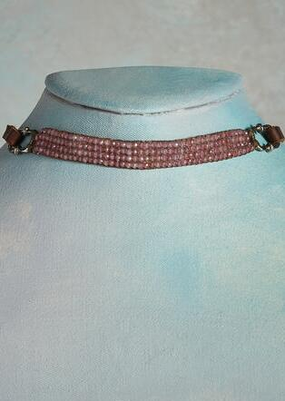 DUSTY ROSE CHOKER NECKLACE