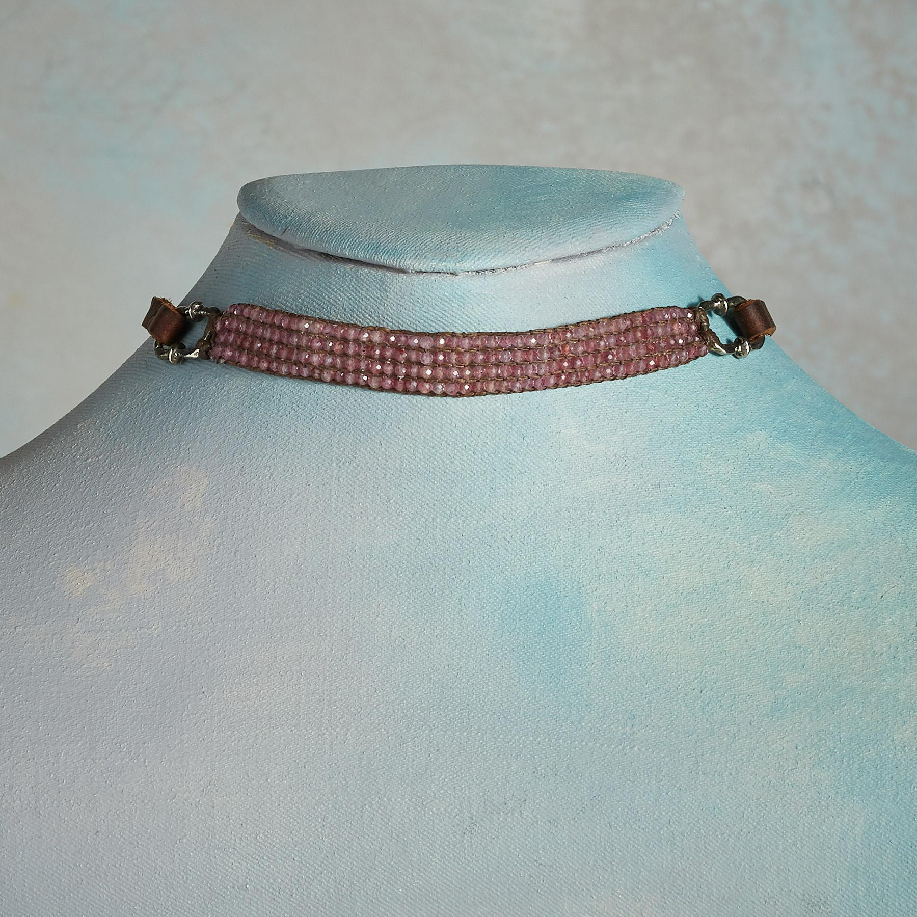 DUSTY ROSE CHOKER NECKLACE: View 1