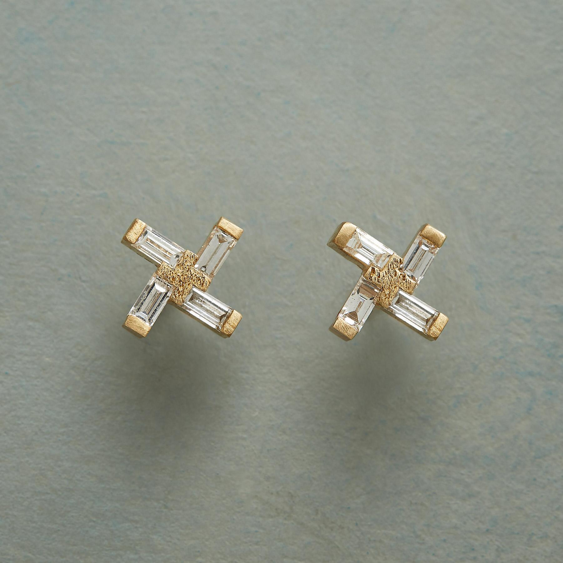 DIAMOND WINDMILL EARRINGS: View 1