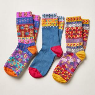 FOLK DANCE SOCKS, SET OF 3