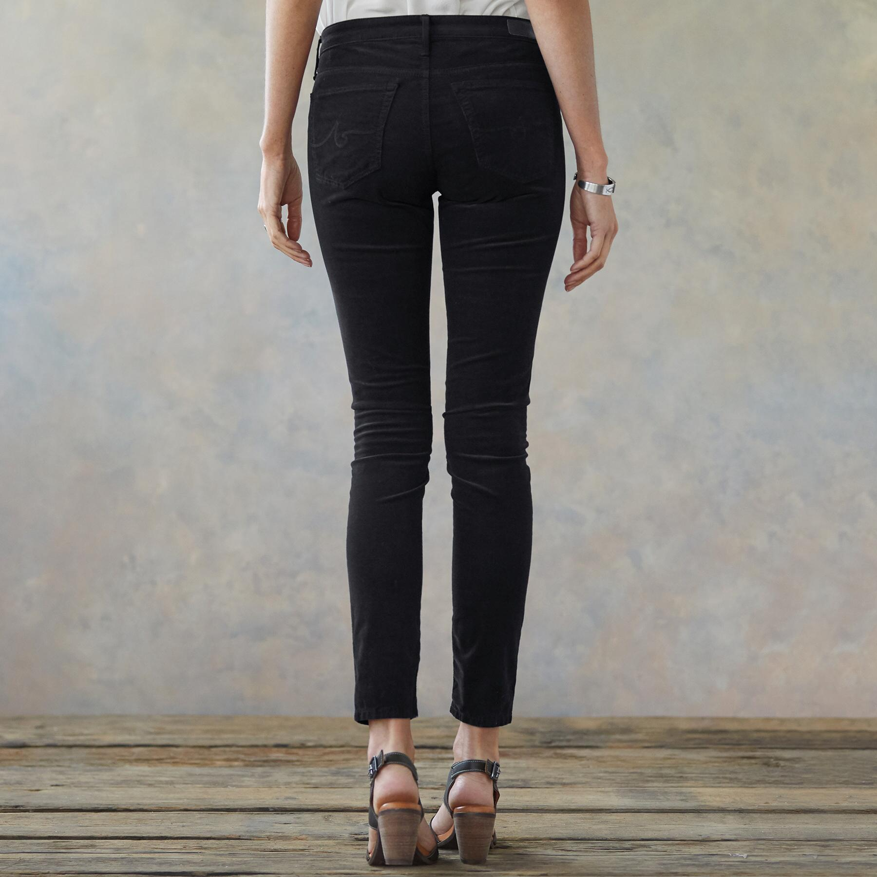 SUPER BLACK DENIM LEGGINGS: View 2
