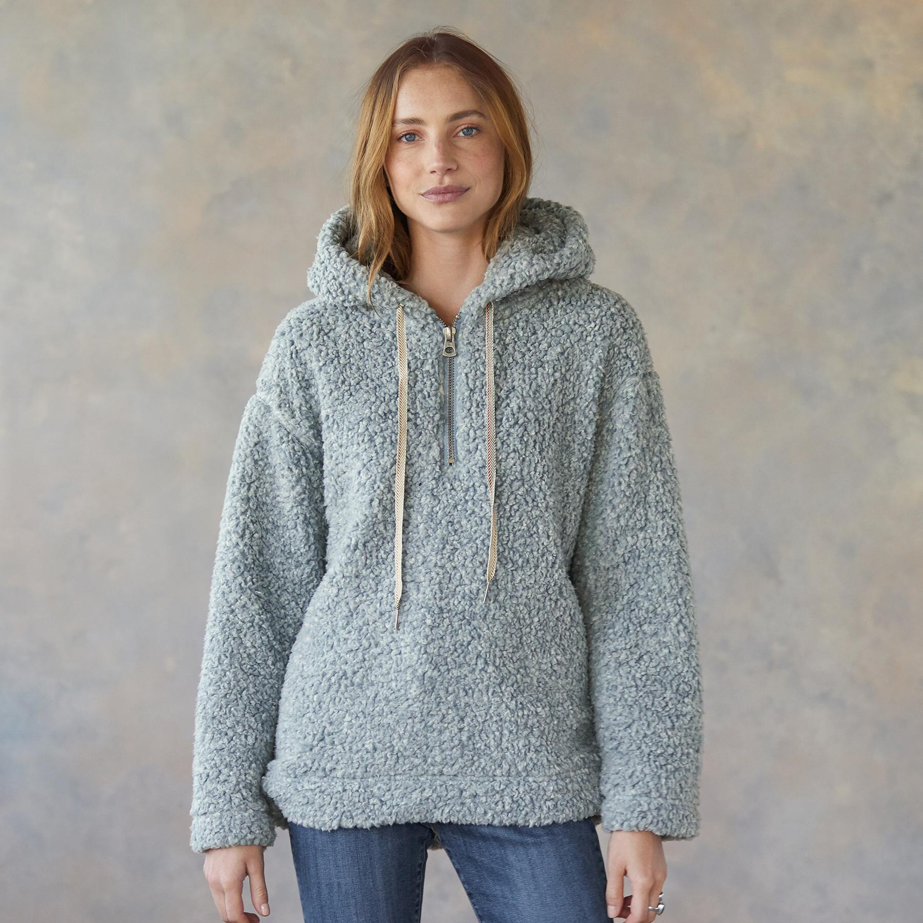 SHEARLING PILE QUARTER ZIP: View 1