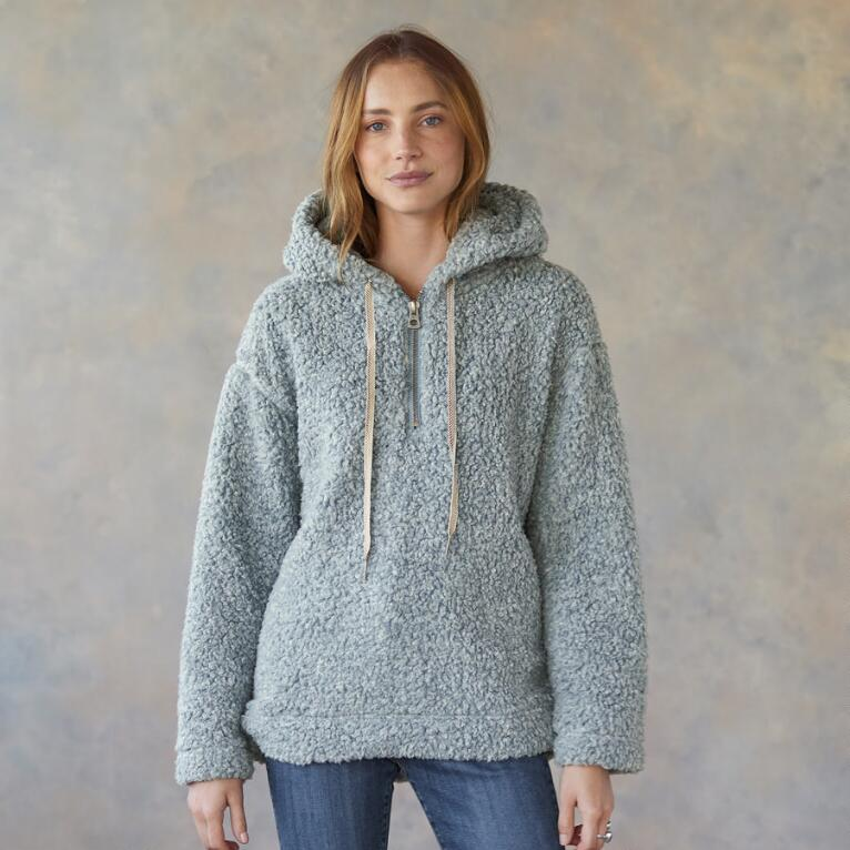 SHEARLING PILE QUARTER ZIP