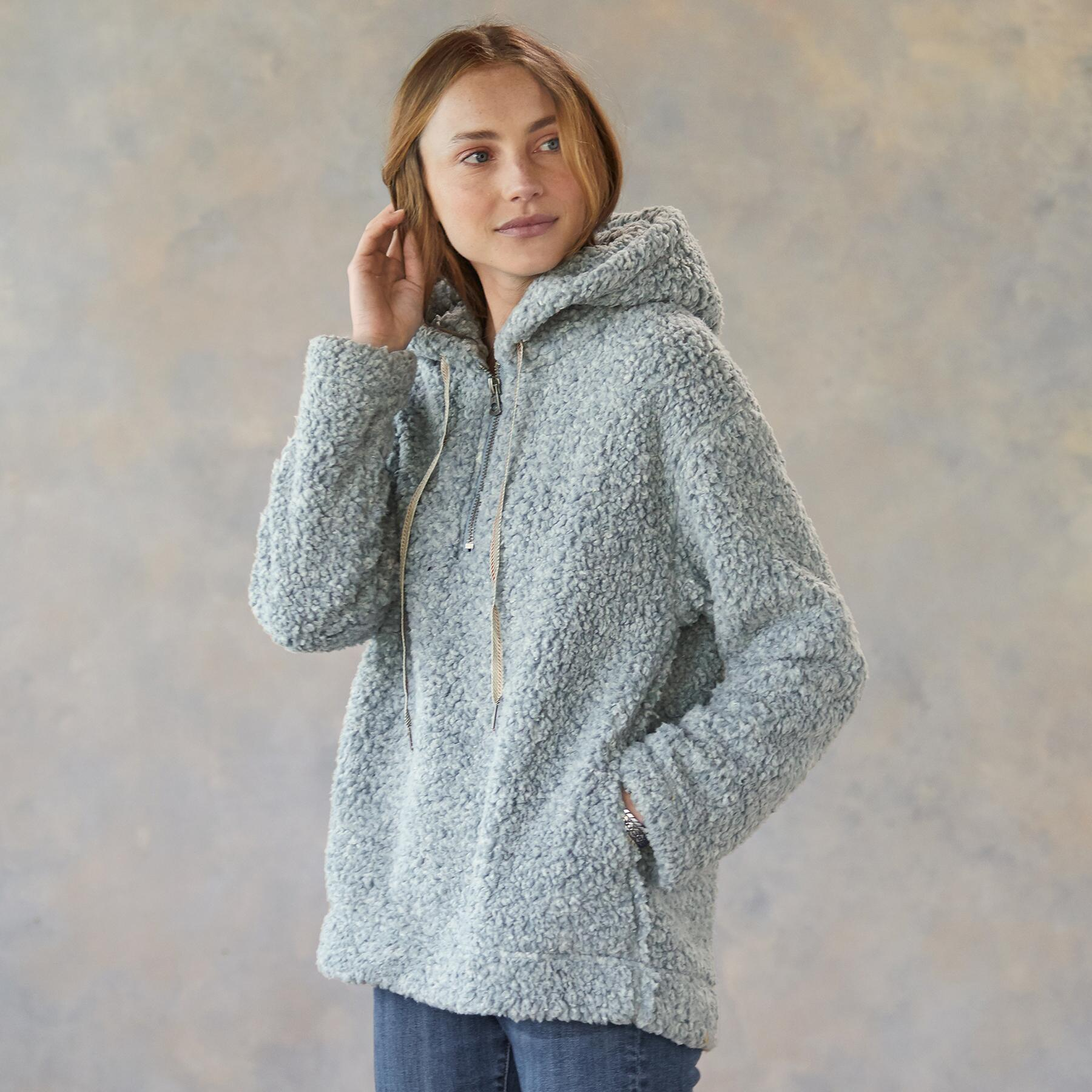 SHEARLING PILE QUARTER ZIP: View 2