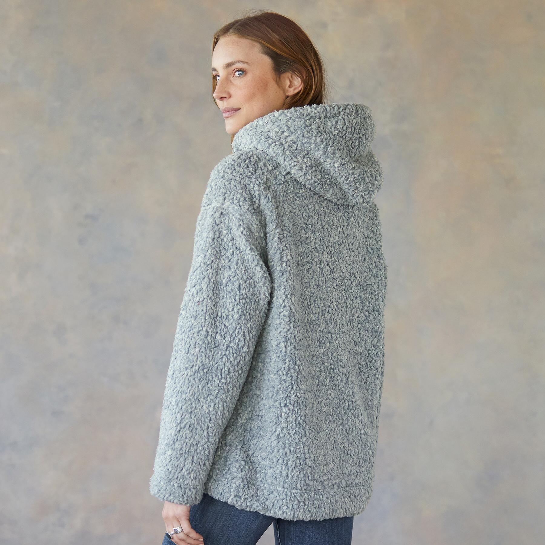 SHEARLING PILE QUARTER ZIP: View 3