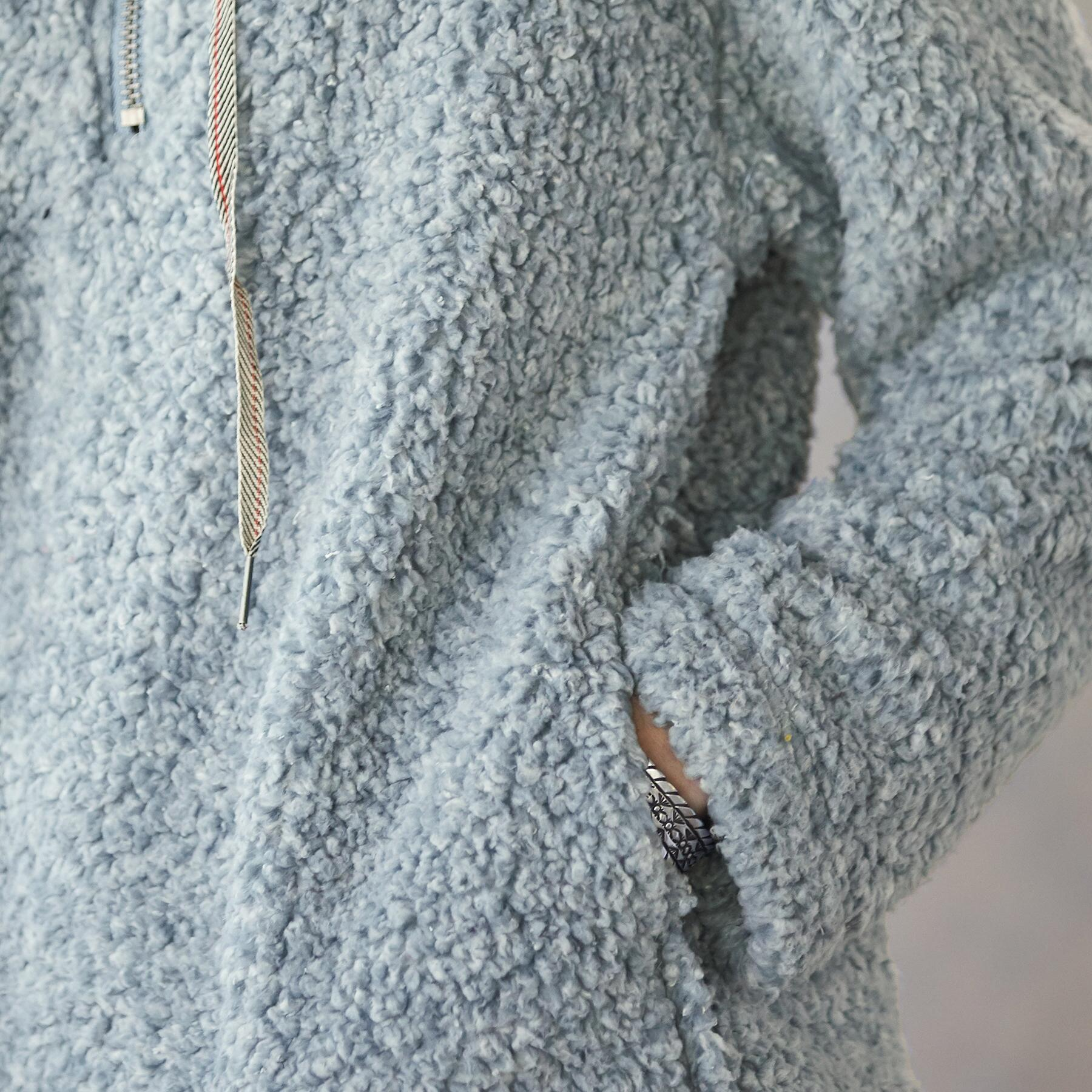 SHEARLING PILE QUARTER ZIP: View 4