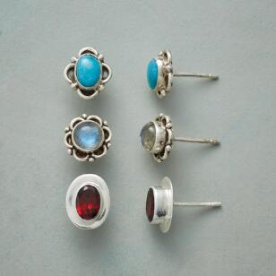 THREE ELEMENTS EARRING TRIO