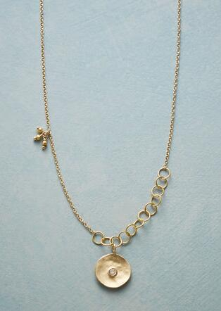 CUPPA CHAMPAGNE DIAMOND NECKLACE