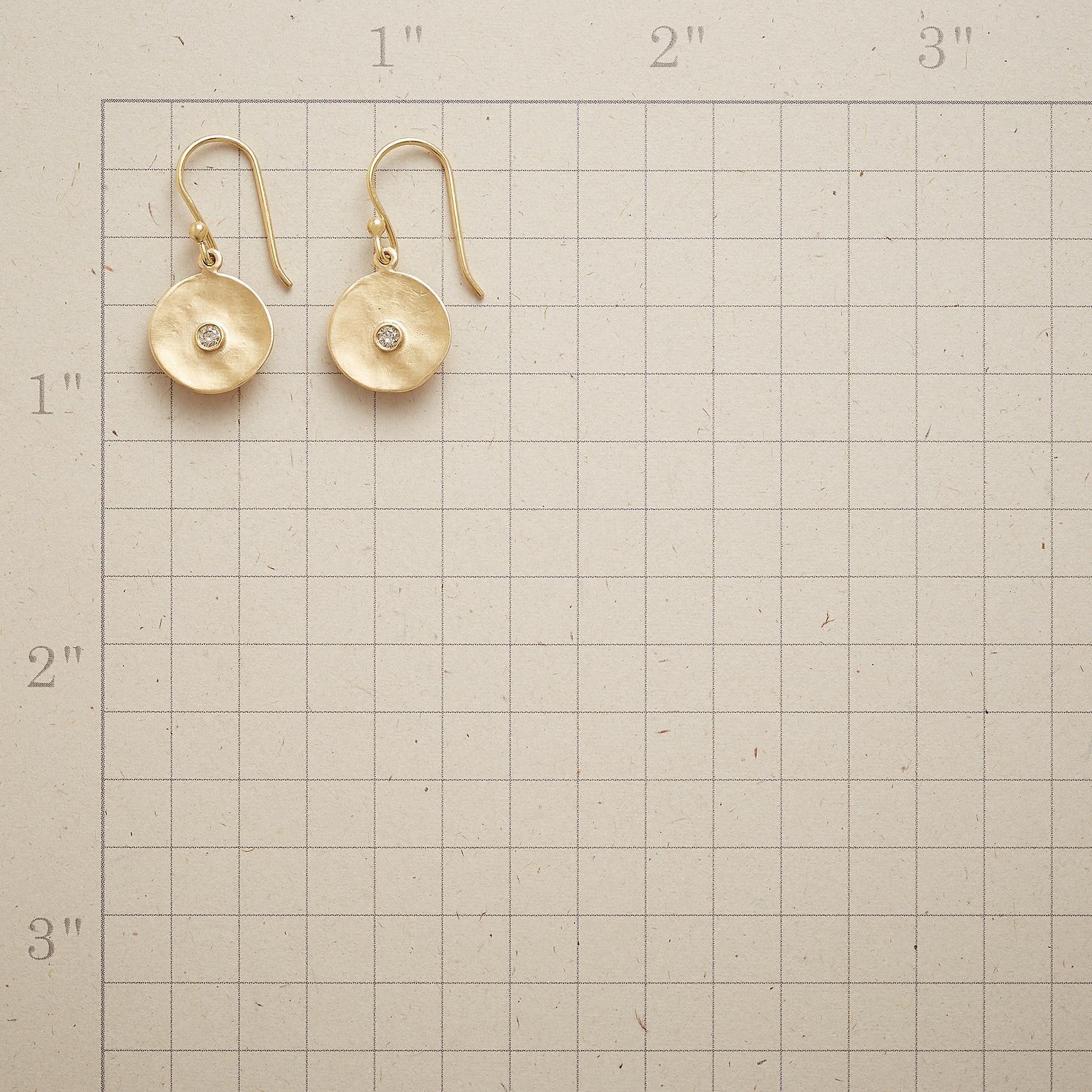 CUPPA CHAMPAGNE DIAMOND EARRINGS: View 2