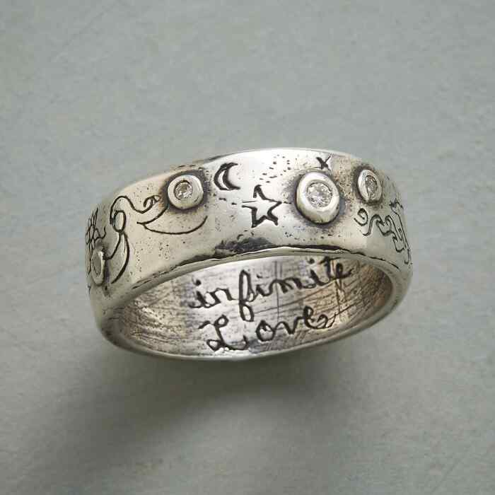 SILVER INFINITE LOVE RING