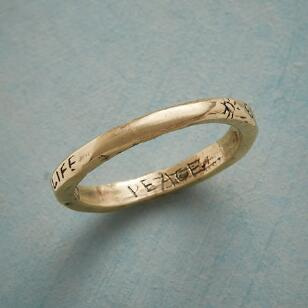 YELLOW GOLD LIFE PEACE DREAM RING