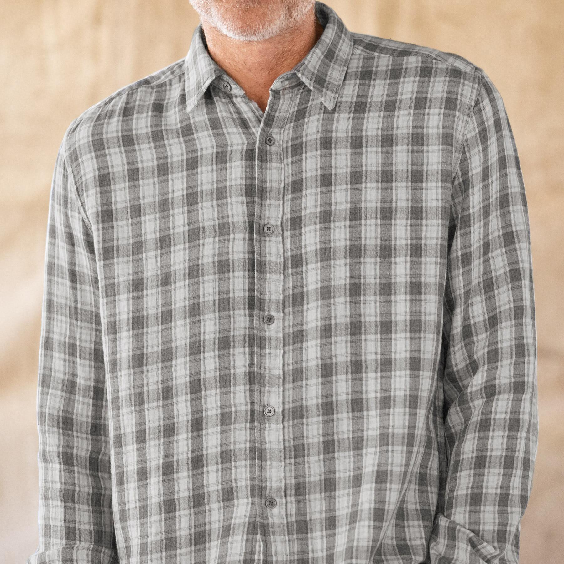 LEROY PLAID SHIRT - GRAY: View 3