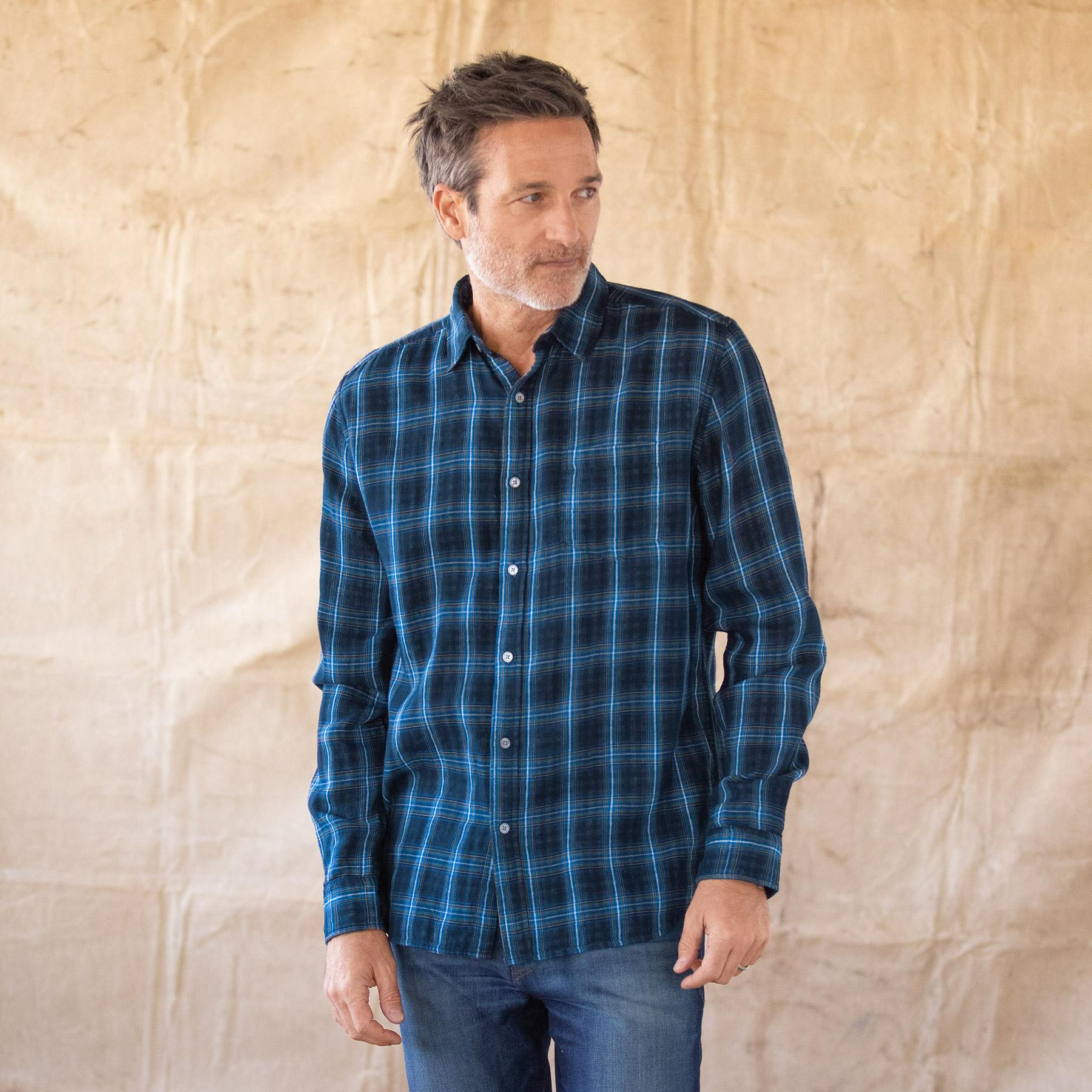 LEROY NAVY PLAID SHIRT: View 1