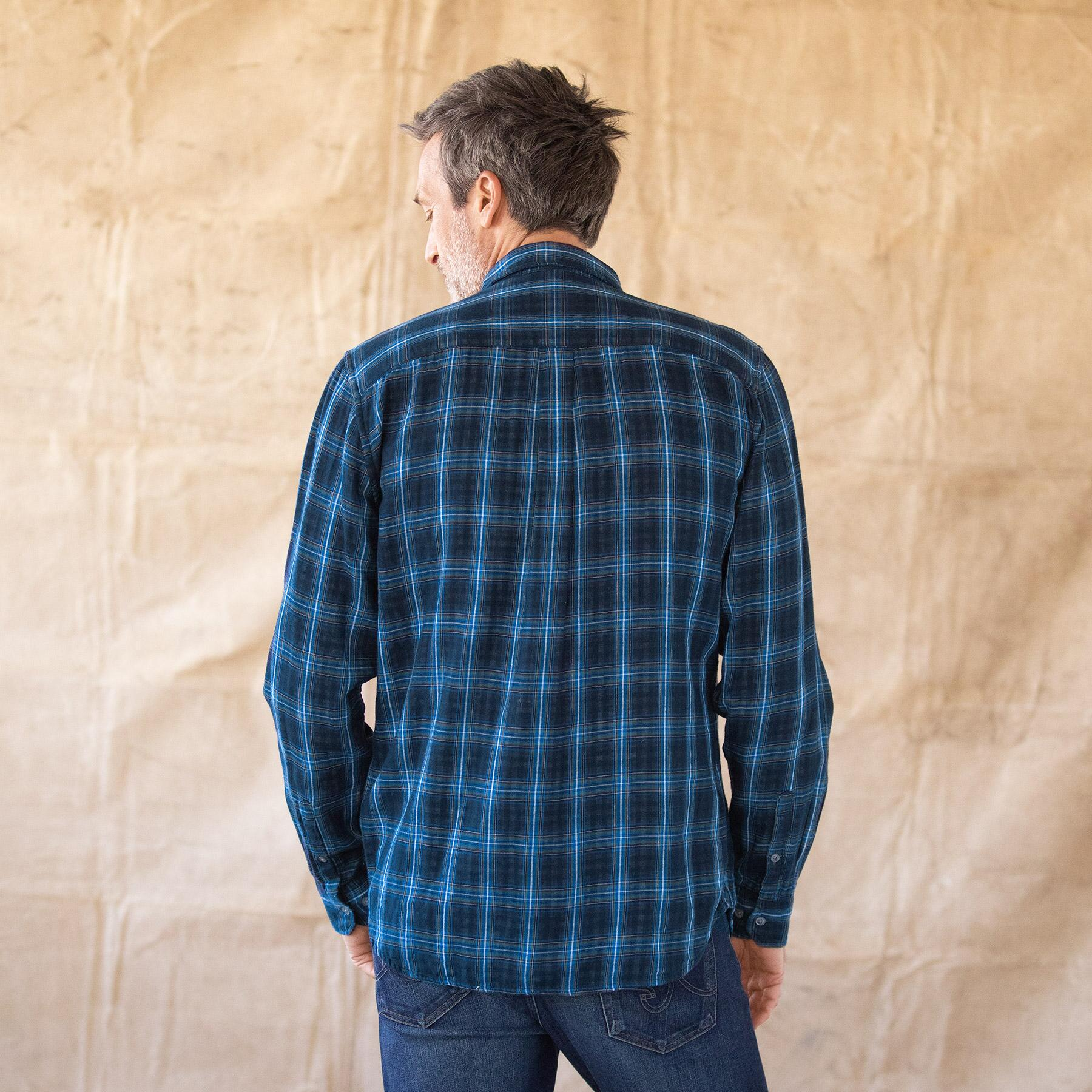 LEROY NAVY PLAID SHIRT: View 2