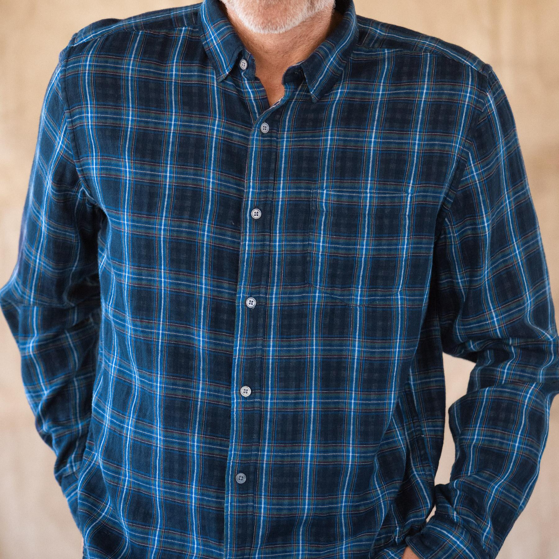 LEROY NAVY PLAID SHIRT: View 3