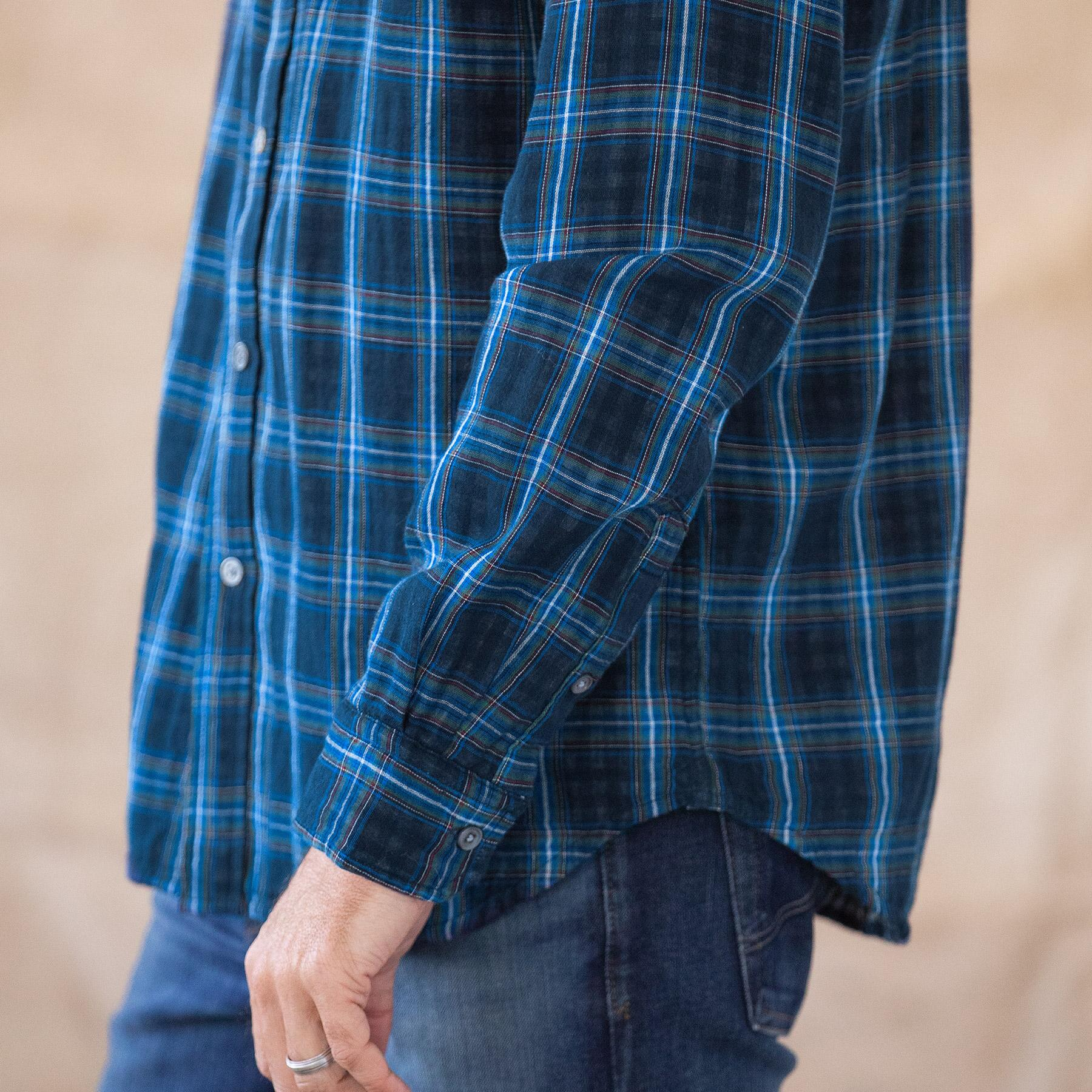 LEROY NAVY PLAID SHIRT: View 4