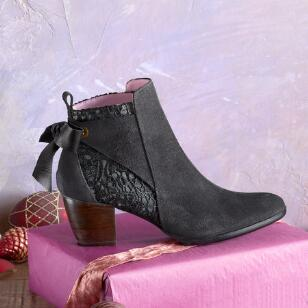 LEATHER AND LACE BOOTS