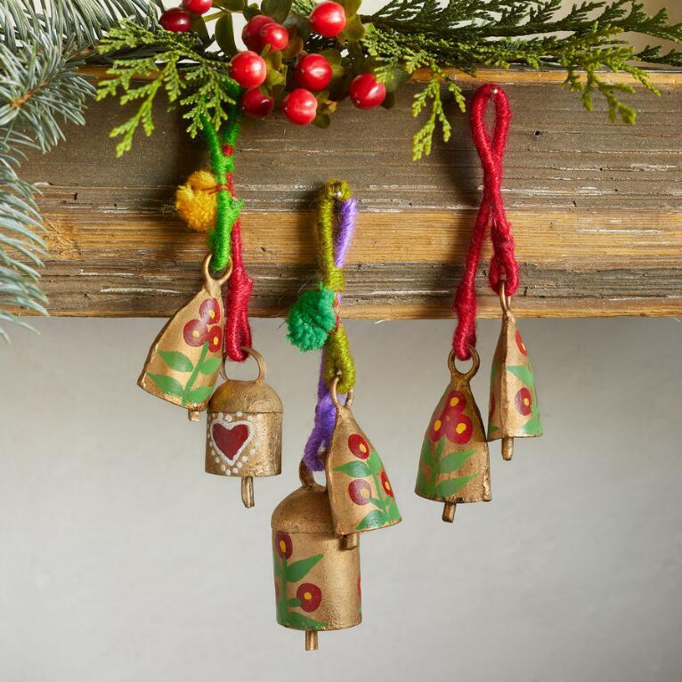 WINTERHAUS BELL ORNAMENTS, SET OF 3