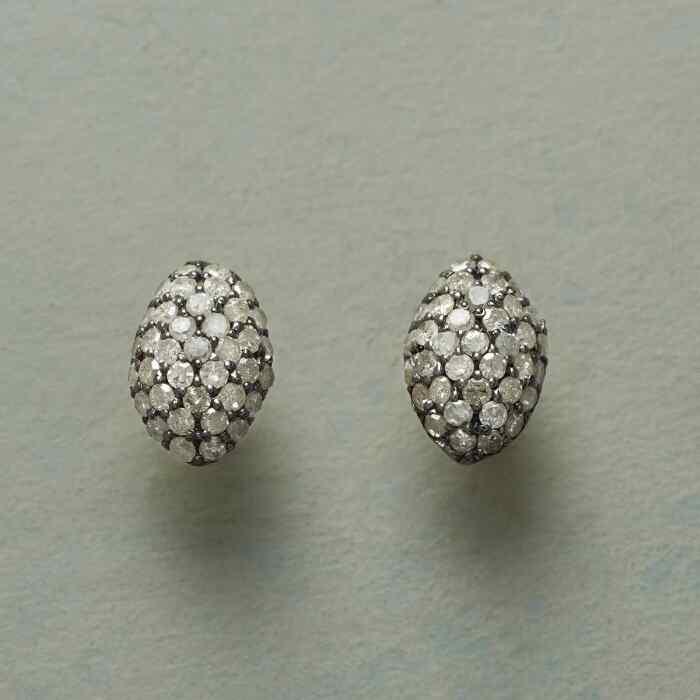 DIAMOND OVALS EARRINGS