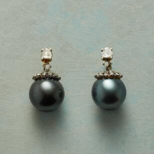 DUSKY PEARL & DIAMOND EARRINGS