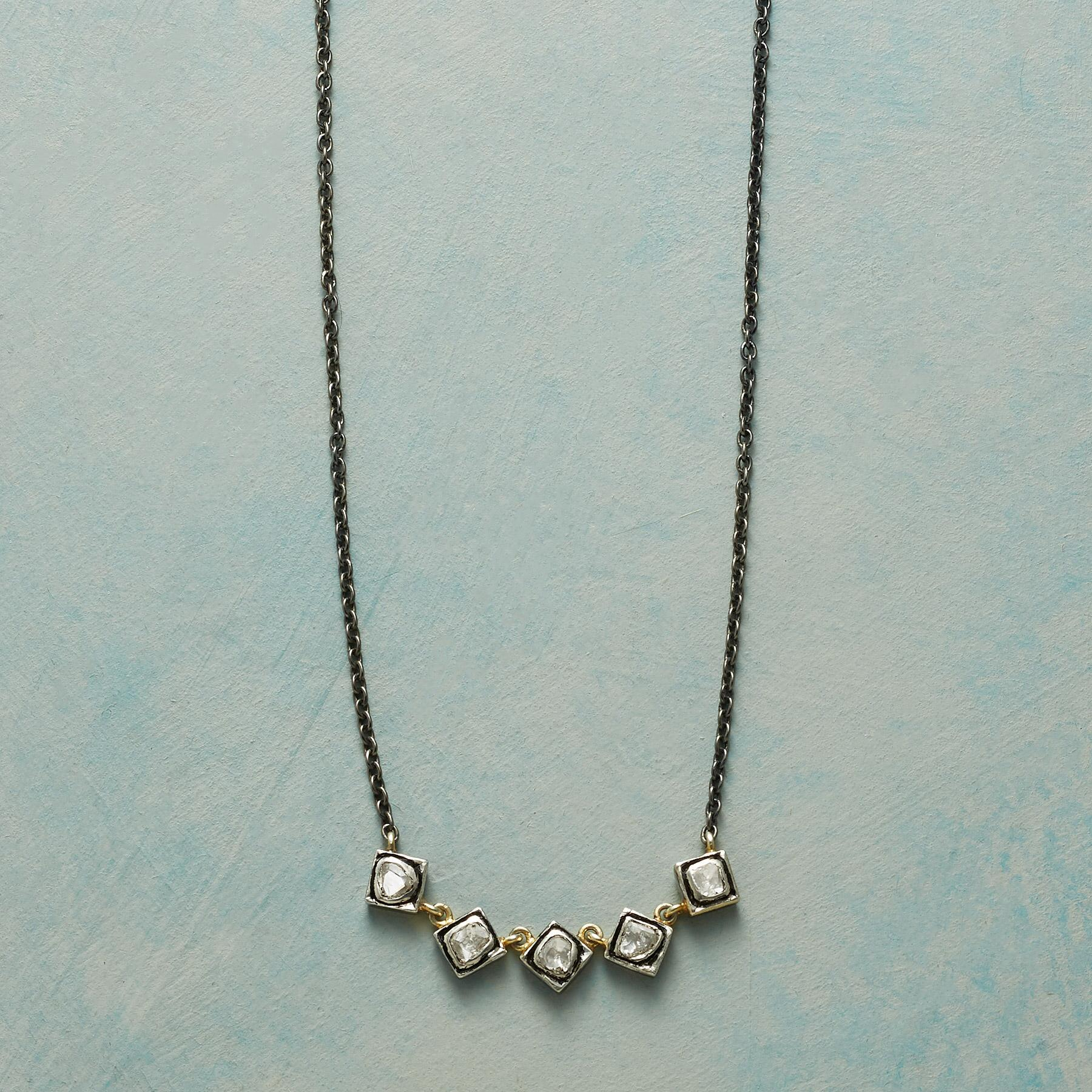 FIVE & COUNTING DIAMOND NECKLACE: View 1