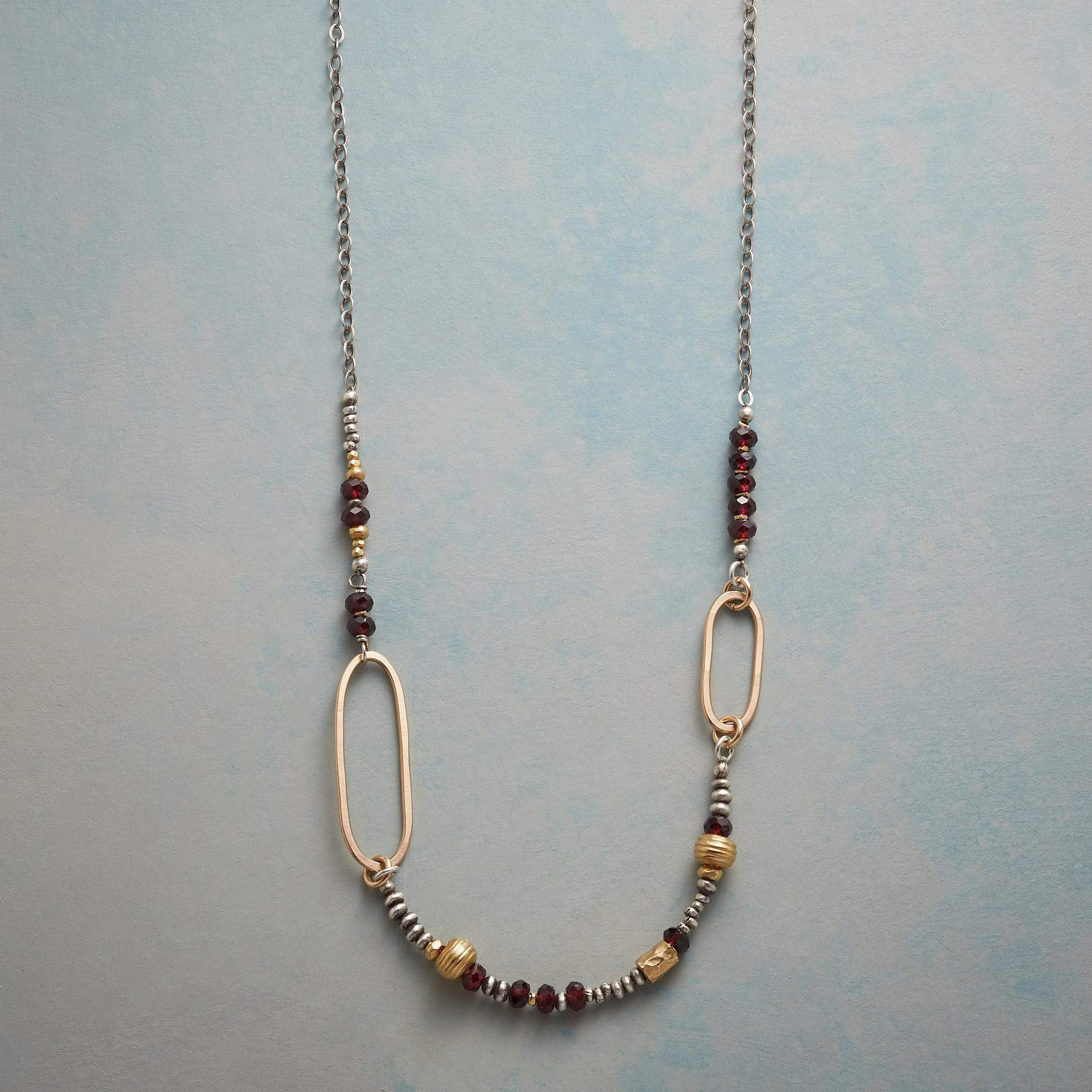 ASYMMETRICAL OVALS NECKLACE: View 1