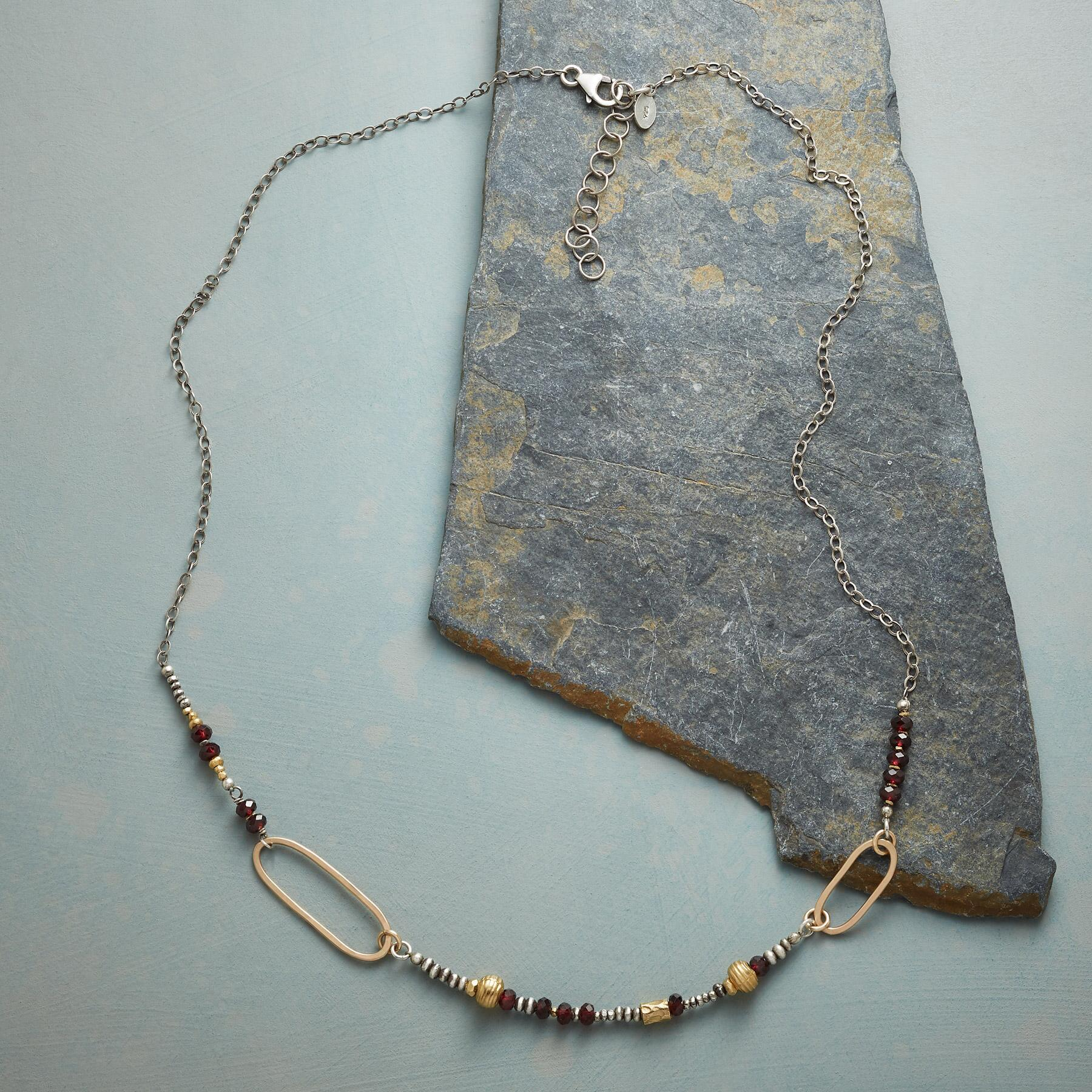 ASYMMETRICAL OVALS NECKLACE: View 2