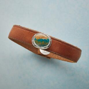 DISTANT ARETE LEATHER BRACELET