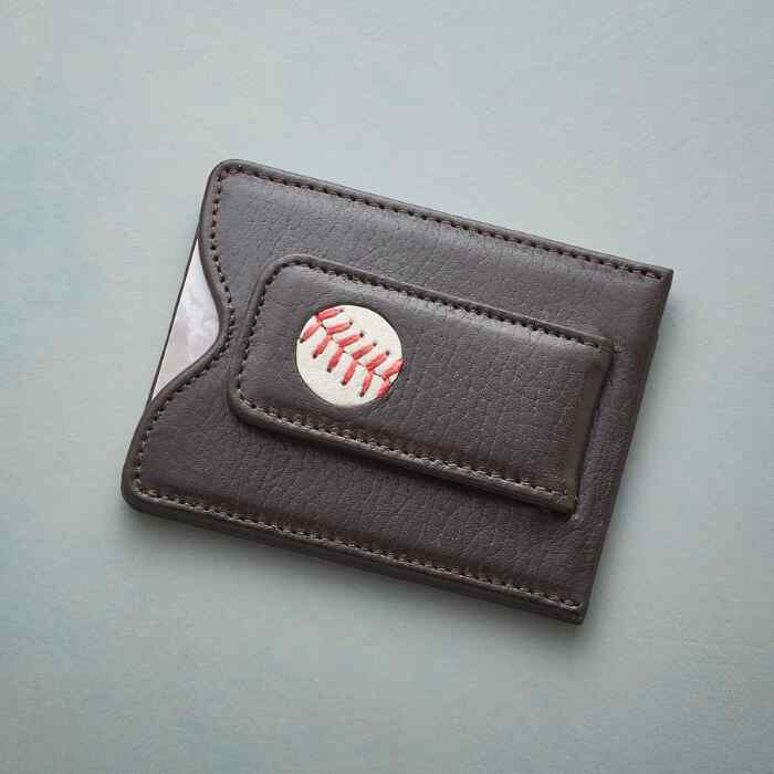 AUTHENTIC BASEBALL MONEY CLIP