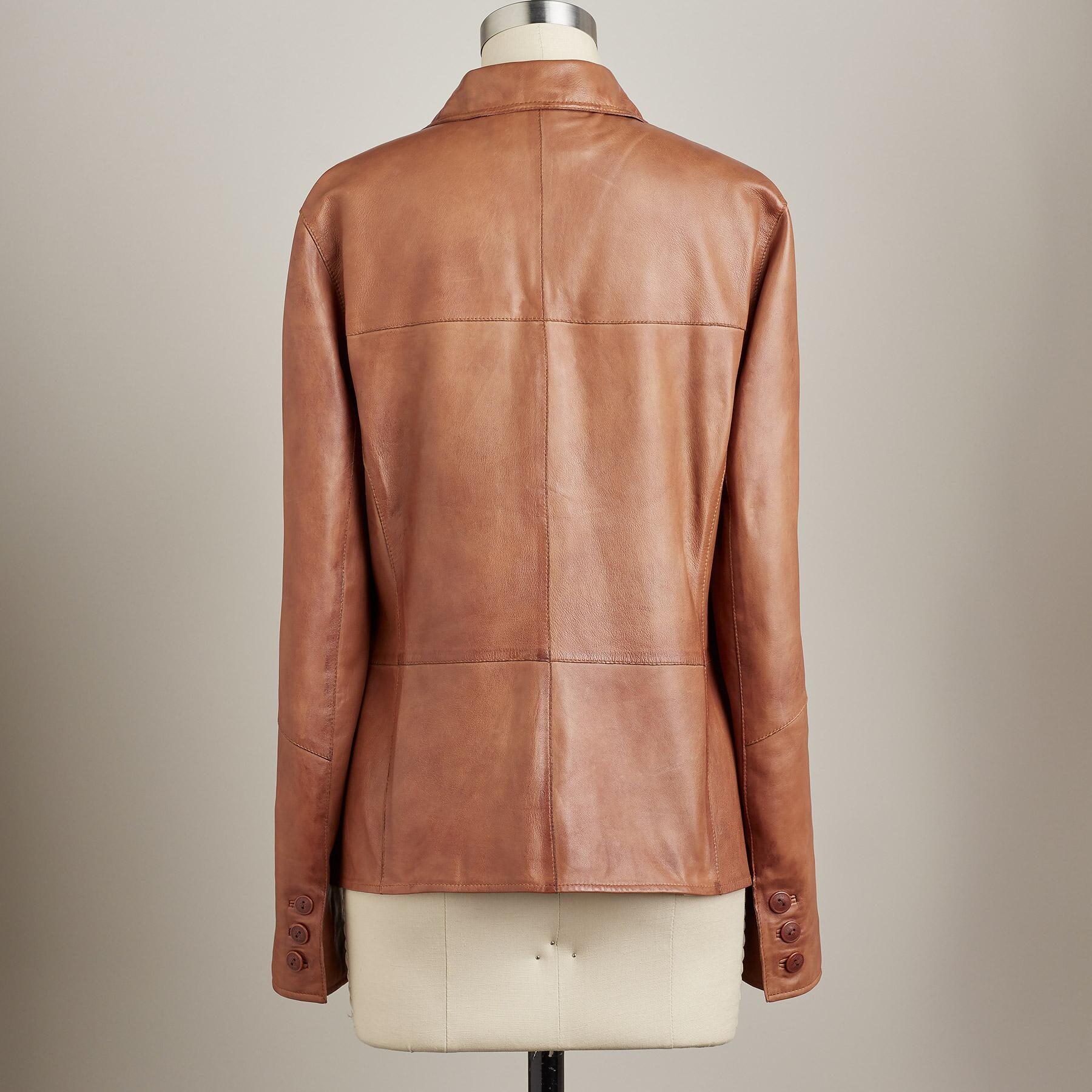 THE NASHVILLE LEATHER JACKET - PETITES: View 3