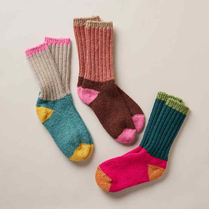 WOMEN'S RAGG TIME SOCKS, SET OF 3