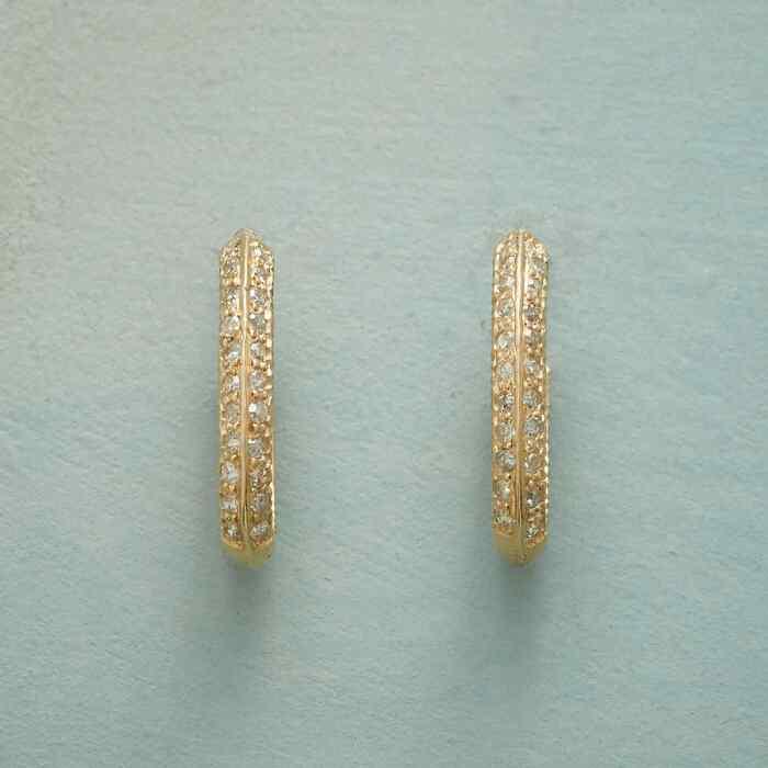 OMNI DIAMOND HOOP EARRINGS
