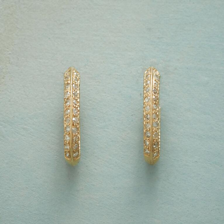 OMNI DIAMOND HOOP EARRINGS