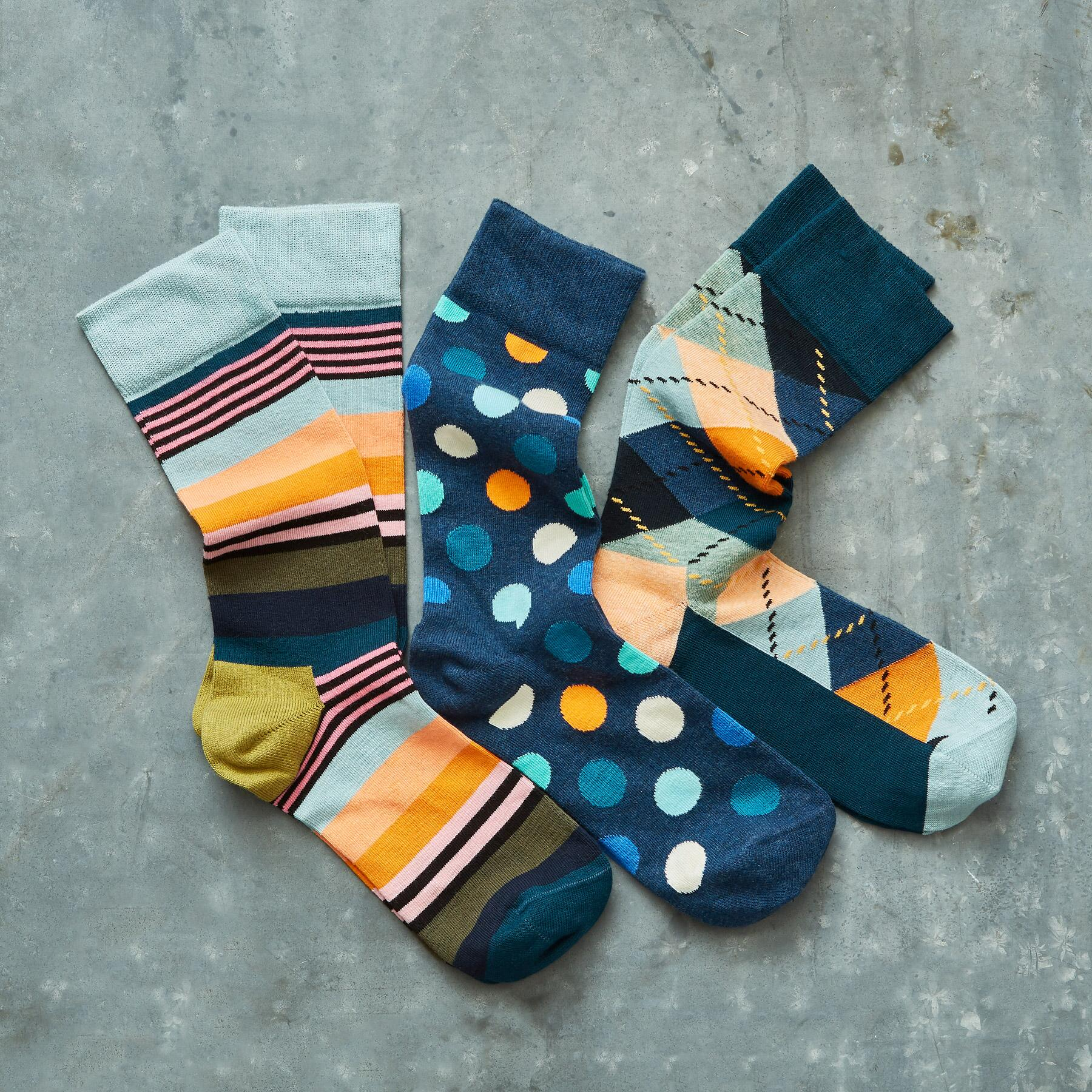 LIFE IN COLOR SOCKS, SET OF 3: View 1