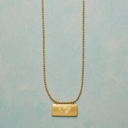 GOLD PLATE ASTROLOGICAL PENDANT NECKLACE