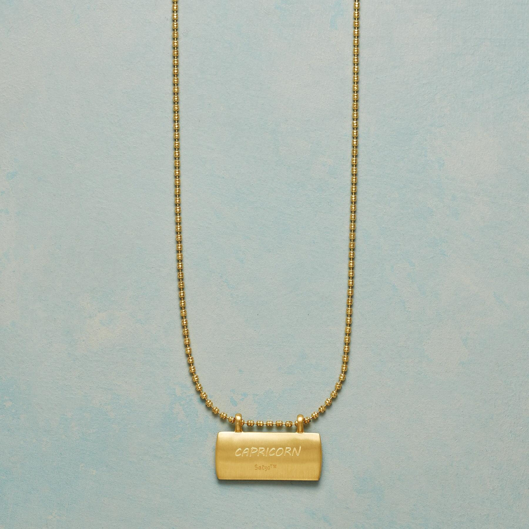 GOLD PLATE ASTROLOGICAL PENDANT NECKLACE: View 3