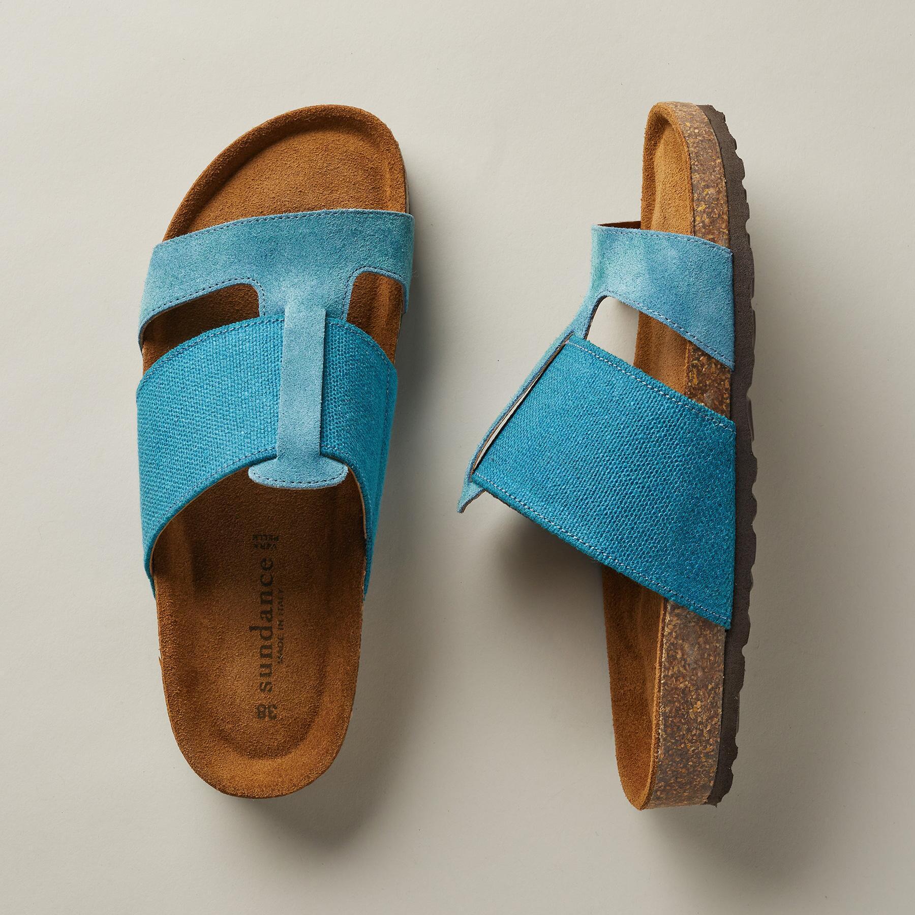 Golden Linen Sandals