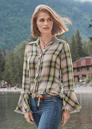 MACEY PLAID SHIRT