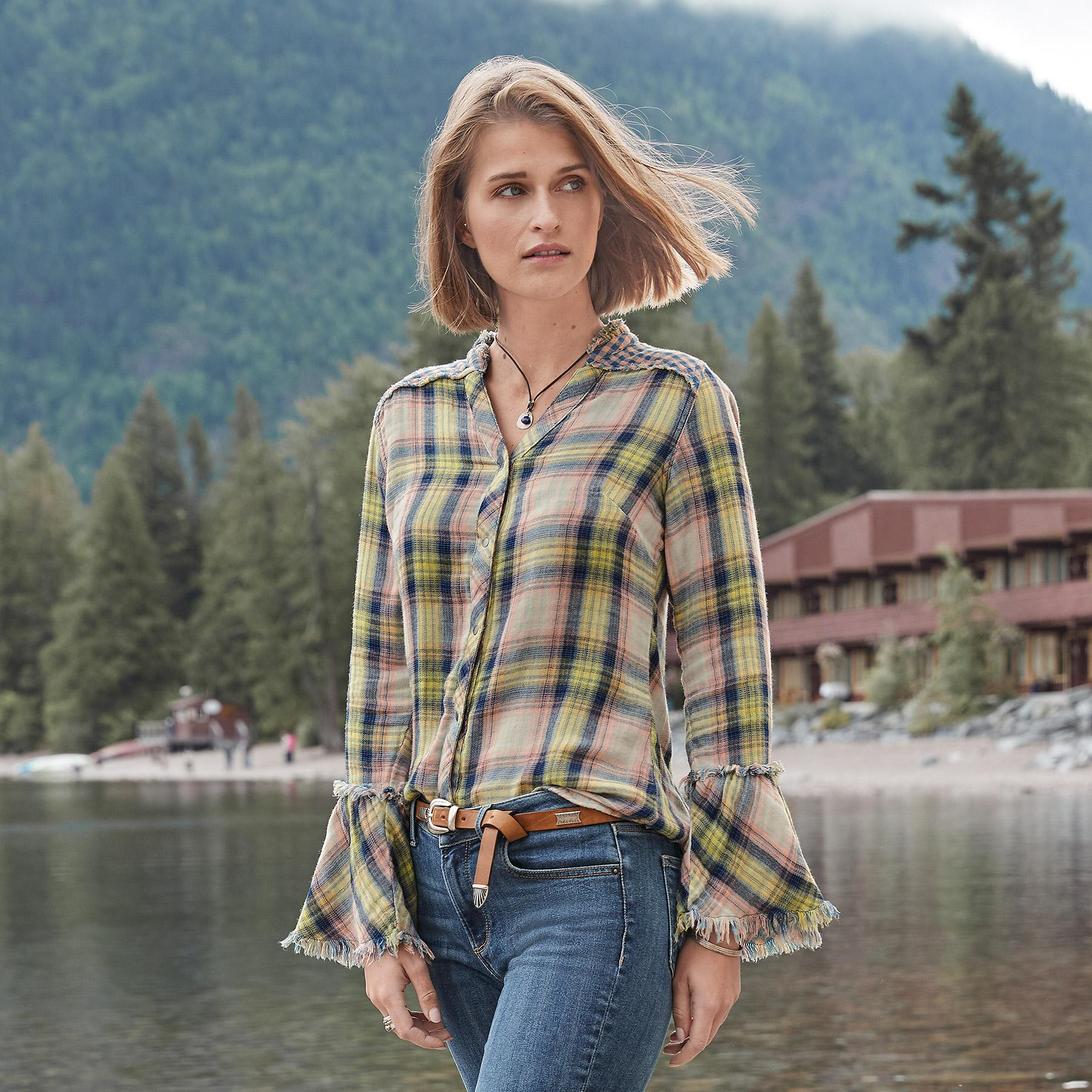 MACEY PLAID SHIRT: View 1