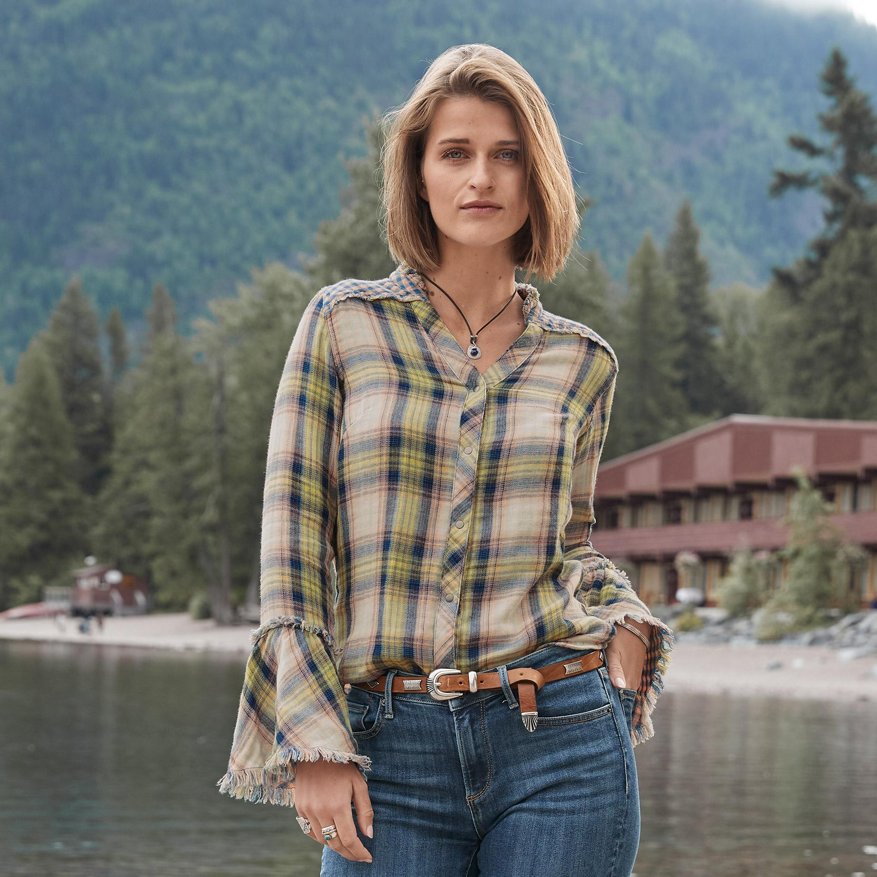 MACEY PLAID SHIRT: View 2