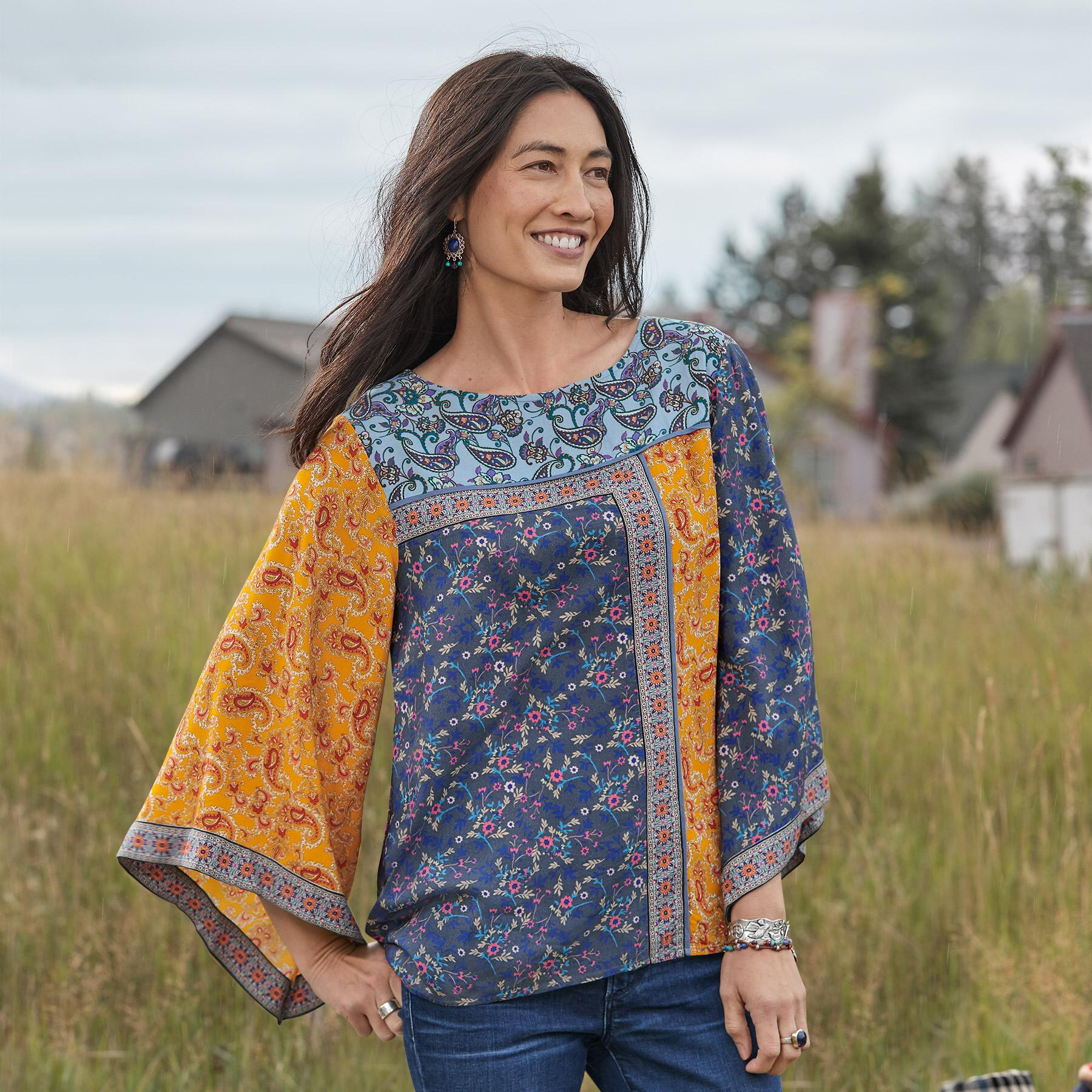 FLORAL MEDLEY TOP: View 1